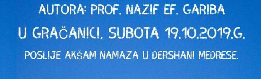 """Prva promocija knjige Nazifa ef. Gariba """"Hutbe, poruke i dove"""""""